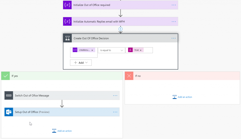 Managing personal office communication with MS Flow – Note